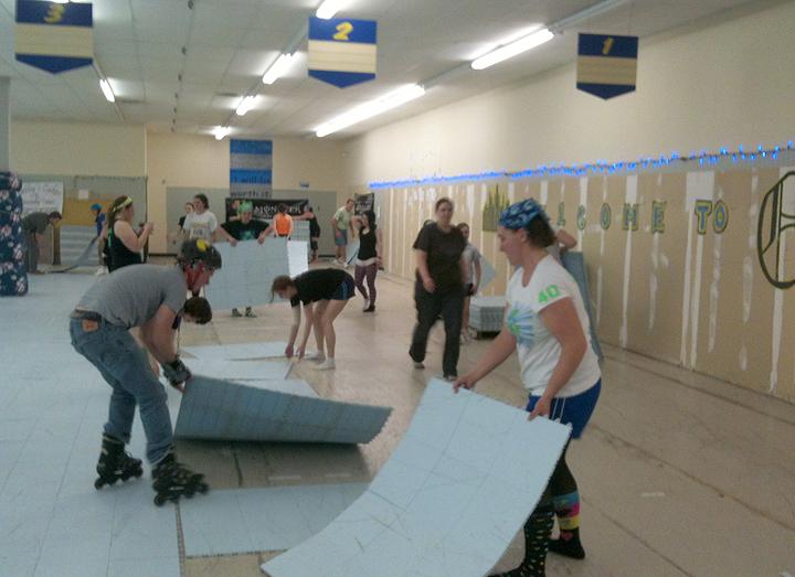 Sport Court My Strange Journey Into Roller Derby - Skate court flooring